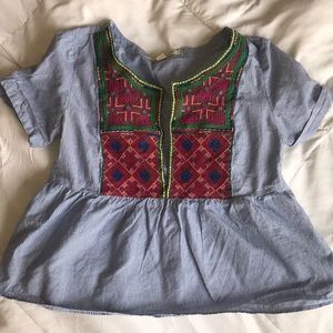 American Eagle Top with Embroidery